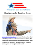 Veteran Vehicle Donations Denver