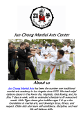 Karate Classes Los Angeles at Jun Chong Martial Arts Center