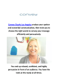 Convey Clearly English Accent Reduction Classes Los Angeles, CA