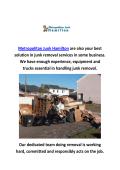 Metropolitan Junk Removal Hamilton | 289-768-5591