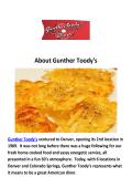 Gunther Toody's Restaurants in Downtown Denver