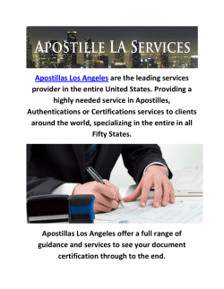 Apostillas Services in Los Angeles, CA