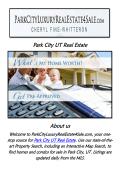 Park City Utah Real Estate | Call @435-225-2998 | Cheryl Fine-Whitteron