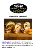 MGM Roast Beef Sandwich Catering Washington DC