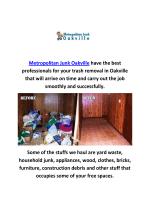 Metropolitan Junk Removal in Oakville | 289-291-5262