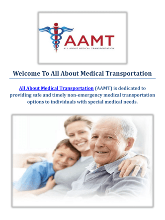 All About Medical Transportation Services