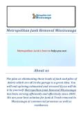 Metropolitan Junk Removal in Mississauga ( 289-804-3596 )