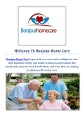 Bonjour Dementia Care At Home In NJ