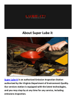 Super Lube it Oil Change Arlington, VA