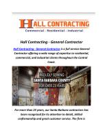 Hall Construction Companies In Santa Barbara
