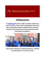Yellowstone Drug Rehab In Southern California