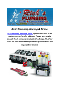 Plumbers In Woodbridge, NJ : Rich's Plumbing, Heating & Air Inc.