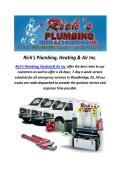 Plumbers In Woodbridge, NJ : Rich's Plumbing, Heating & Air Inc.