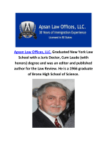 Apsan Law Offices, LLC. Immigration Lawyers in NJ
