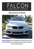 Falcon BMW Car Rental Los Angeles, CA