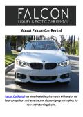 Falcon BMW Car Rental Los Angeles, CA