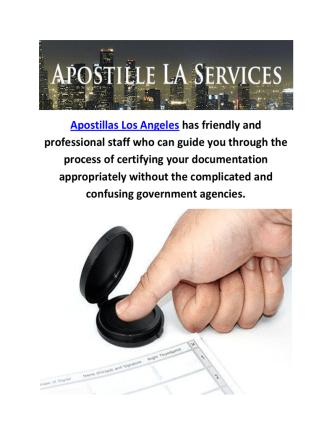 Apostillas Birth Certificate in Los Angeles, CA