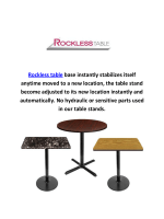 Rockless Self Leveling Table Bases in Laguna Niguel, CA
