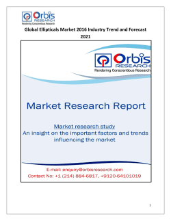 Global Ellipticals Industry Latest Report by Orbis Research