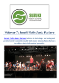 Suzuki Violin | Summer Camp Band in Santa Barbara, CA