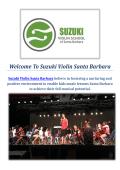 Suzuki Violin | Summer Camp Band in Santa Barbara, CA