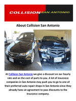 Collision Repair in San Antonio