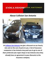 Collision Repair in San Antonio