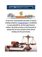 E Lawsuit Loans Settlement Funding in Millburn, NJ