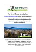 Best Carpet Cleaners In Santa Barbara