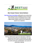 Best Carpet Cleaners In Santa Barbara
