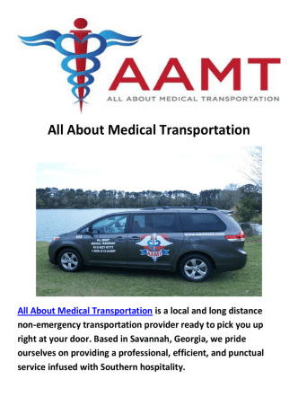 All About Non Emergency Medical Transportation