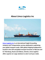 Limco Logistics Inc : Shipping to Kazakhstan