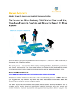 North America Silver Industry 2016 Market Share and Size, Trends and Growth, Analysis and Research Report By Hexa Reports