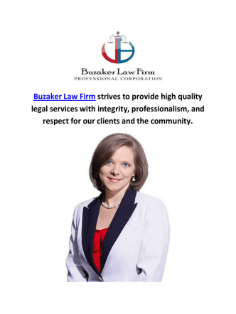 Buzaker Law Firms in Toronto, ON