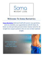 Soma Bariatrics : Tummy Tuck Surgery in Los Angeles
