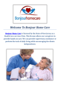 Bonjour Home Care Service in Union County