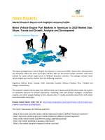Motor Vehicle Engine Part Markets in Americas Market Size, Share and Trends