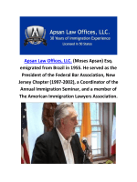 Immigration Attorney NJ At Apsan Law Offices, LLC.