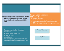 Energy Storage Technologies Market Trends 2014 - 2020
