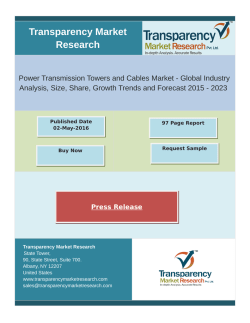 Growth Of Power Transmission Towers and Cables Market 2015 - 2023