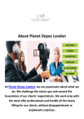 Planet Depos Court Reporting Company London