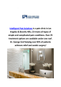Intelligent Pain Solutions Management Clinics in Los Angeles, CA