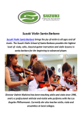 Suzuki Violin : Music Summer Camps In Santa Barbara