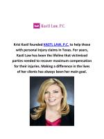 KASTL LAW, P.C Personal Injury Attorney in Dallas
