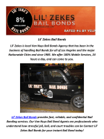 Lil' Zekes Marijuana Bail Bonds In California