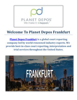 Planet Depos Court Reporting Company in Frankfurt