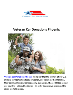 Veteran Car Donate Phoenix