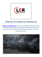 Mini Bus Hire Service: London Car Rentals Ltd