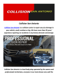 Collision Auto Body Shop In San Antonio