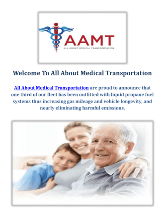 All About Medical & Wheelchair Transportation Service
